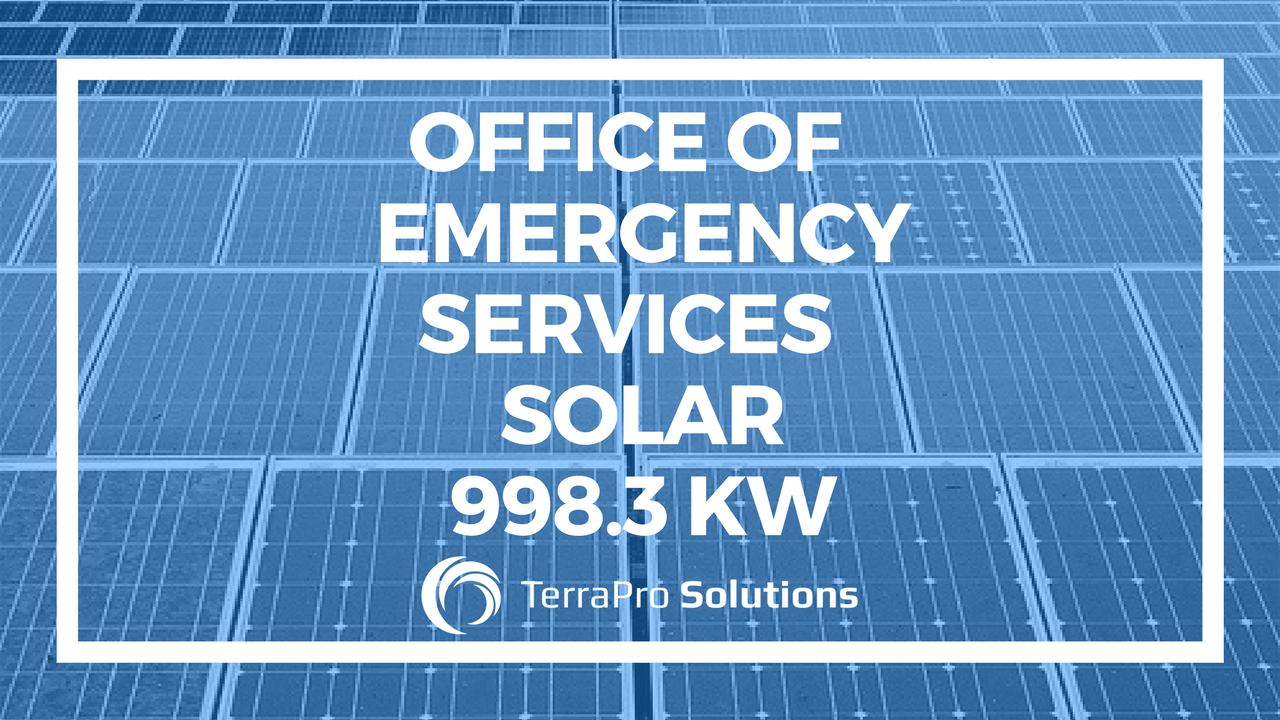 Office of Emergency Services, Solar 998.3 KW
