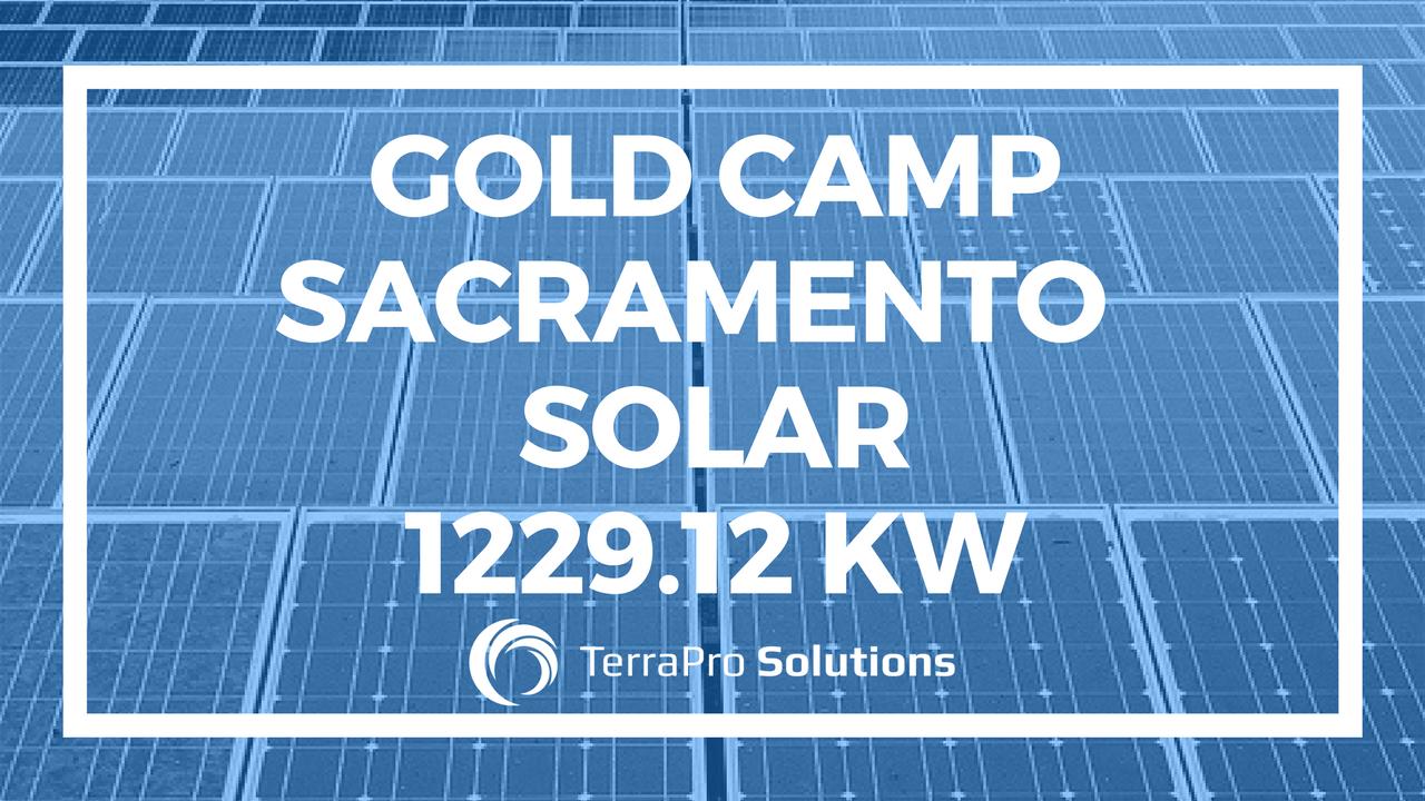 Gold Camp Sacramento, Solar 1229.12 KW